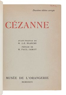 [ART REFERENCE & EXHIBITION CATALOGUES]. A group of 4 reference works and exhibition catalogues about French artists, comprising:
