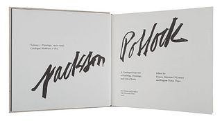 [POLLOCK, Jackson (1912-1956)]. O 'CONNOR, Francis Valentine; THAW, Eugene Victor, editors. Jackson Pollock. A Catalogue Raisonne of Paintings, Drawin