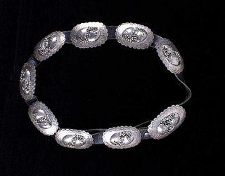 Navajo Rose Castillo Sterling Silver Concho Belt