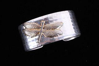 Tiffany & Co. Sterling & 18k Dragonfly Bracelet