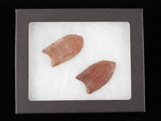 Paleo Fluted Clovis Point Pair 15,000-10,000 B.P.