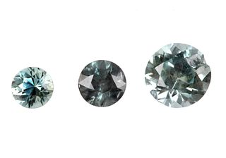 Montana Blue Green Sapphires 2.64 Carats