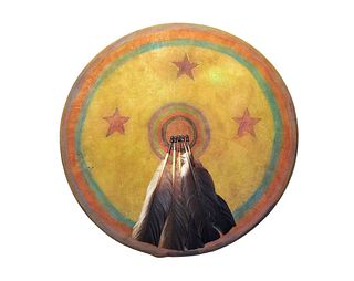 Cheyenne Dog Soldier Polycrhome War Shield