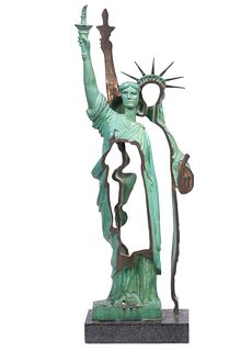 Arman Bronze 'Statue of Liberty' Sculpture
