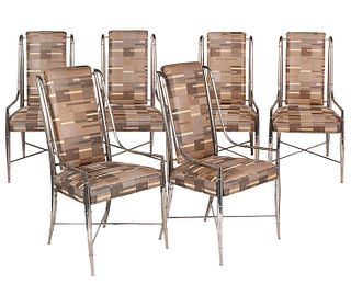 Set of 6 Mastercraft Nickel Plated Chairs
