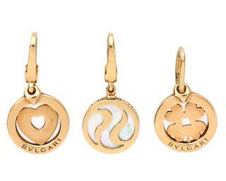 3 Bvlgari 18K Gold Charms