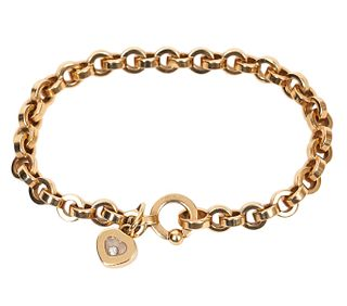 Chopard 'Happy Diamond' Bracelet 18K Gold