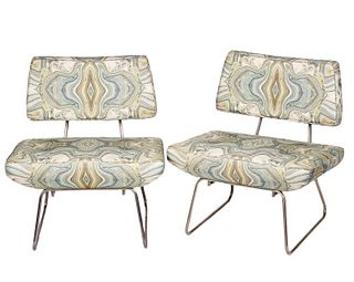 Pair of Modern Italian Slipper Chairs