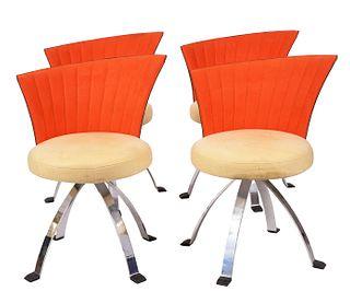 4 Saporiti Italia Asymetrical Chairs