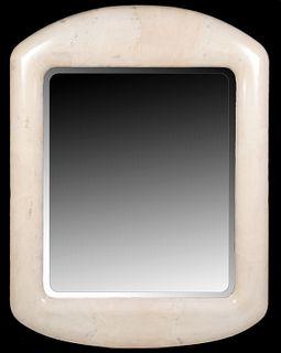 Attr. Karl Springer Monumental Goatskin Mirror