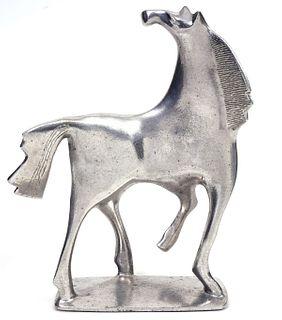 Donald Drumm Aluminum Brutalist Horse Sculpture