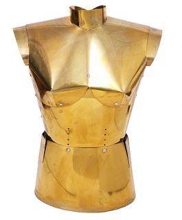 French Modernist Brass Female Torso Sculpture