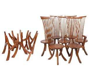 Jeffrey Greene Unique Table & 7 Chairs