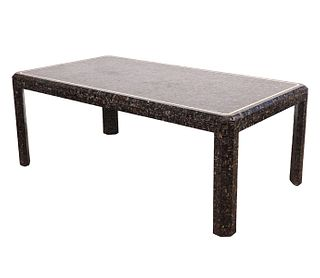 Maitland Smith Tessellated Abalone Dining Table