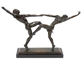 Harriet Whitney Frishmuth 'The Dancers' Bronze