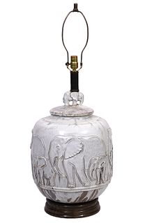 Italian Terracotta 'Elephant' Table lamp