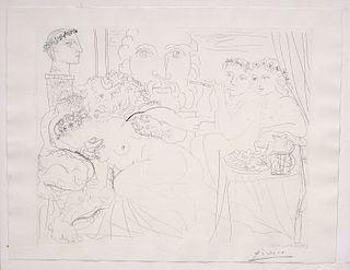 Picasso Etching 'Minotaure Caressant Une Femme'