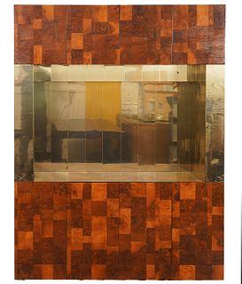 Paul Evans Brass & Wood Display Cabinet