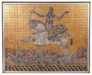 Valentin Shabaeff Egyptian Motif Mosaic