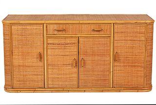 Vintage Italian Bamboo Dresser / Sideboard