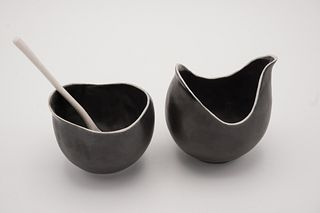 Cream and Sugar Set Black