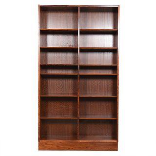 Danish Modern Rosewood Tall 42.5″ Adjustable Shelf Bookcase
