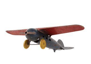1900s Wyandotte High Wing Pressed Steel Airplane