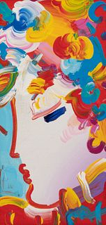 Peter Max (American, b. 1937) Blushing Beauty Detail Ver. IV #25, 2011