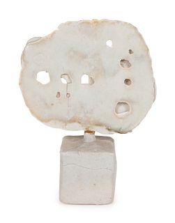 Ruth Duckworth  (German, 1919-2009) Porcelain Disk on Base