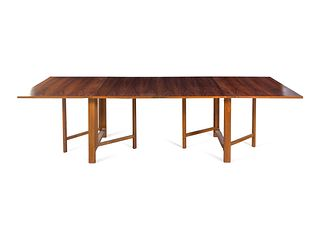 Style of Bruno Matthson  Mid 20th Century Expandable Dining Table