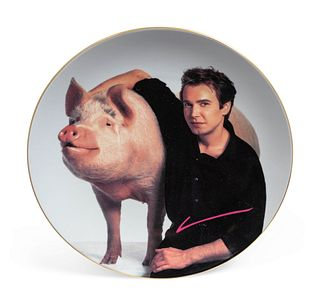 Jeff Koons (American, b. 1955) Signature Plate (from Parkett editions), 1989