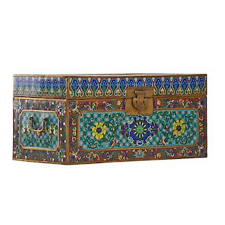 CHINESE CLOISONNE TRUNK