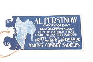 "Like New Al. Furstnow Saddle Tag Early 1900""s"