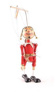 Wooden Pelham Style Marionette Jester Puppet