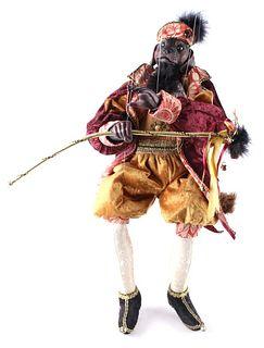 Rottweiler Court Jester Marionette Puppet
