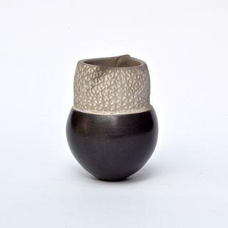 Tiny Pinch Pot with Zig Zag Texture