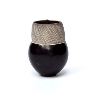 Tiny Pinch Pot with Serrated Striations