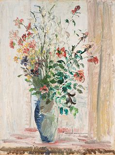 Adriano Spilimbergo (Buenos Aires 1908-Spilimbergo 1975)  - Natura morta con vaso di fiori