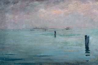 Walter Lazzaro (Roma 1914-Milano 1989)  - Laguna veneta, 1945