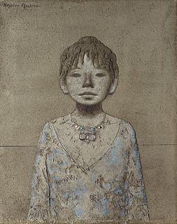 Xavier Bueno (Bera 1915-Fiesole 1979)  - Ragazza con collana, 1969
