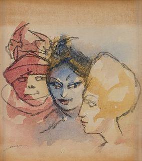 Mino Maccari (Siena 1898-Roma 1989)  - Figure femminili, 70s