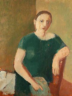Virgilio Guidi (Roma 1891-Venezia 1984)  - Figura di donna, 1934-1935