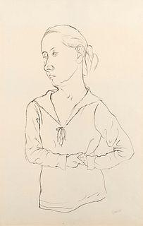 George Grosz (Berino 1893-Berlino 1959)  - Junges Madchen, 1923