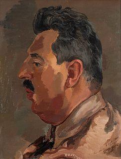 George Grosz (Berino 1893-Berlino 1959)  - Portrait of Erich Cohn, 1937