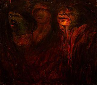 Lorenzo Viani (Viareggio 1882-Lido di Ostia 1936)  - The possessed (miners), 1908 / 09