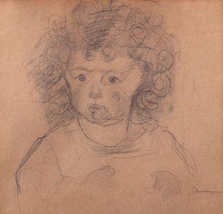 Umberto Boccioni (Reggio Calabria 1982-Verona 1916)  - Girl with curly hair, (portrait of Fiammetta Sarfatti), 1910