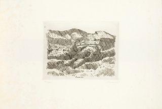 Giorgio Morandi (Bologna 1890-1964)  - Monti di Grizzana, 1929