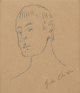 Giorgio de Chirico (Volos 1888-Roma 1978)  - Testa di saggio , 40s