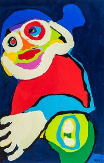 Karel Appel (Amsterdam 1921-Zuirgo 2006)  - Clown, 1973
