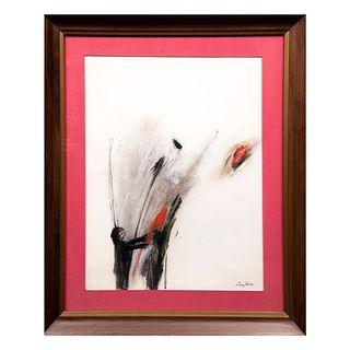 Luis Gal. Sin título. Firmado y fechado 86. Tinta sobre papel. Enmarcada. 40 x 32 cm.